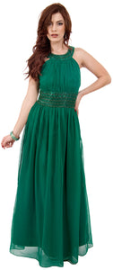 Main image of Roman Empire Long Formal Dress With Beaded Straps & Waist