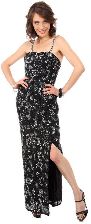 Image of Strapless Sequins & Rhinestones Long Formal Dress With Slit in an alternative picture