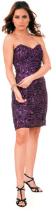 Main image of Strapless Sequins Embellished Short Prom Homecoming Dress