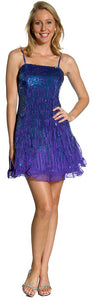 Main image of Sequin Glittered Prom Dress