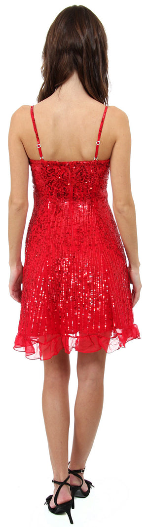 Back image of Sequin Glittered Prom Dress