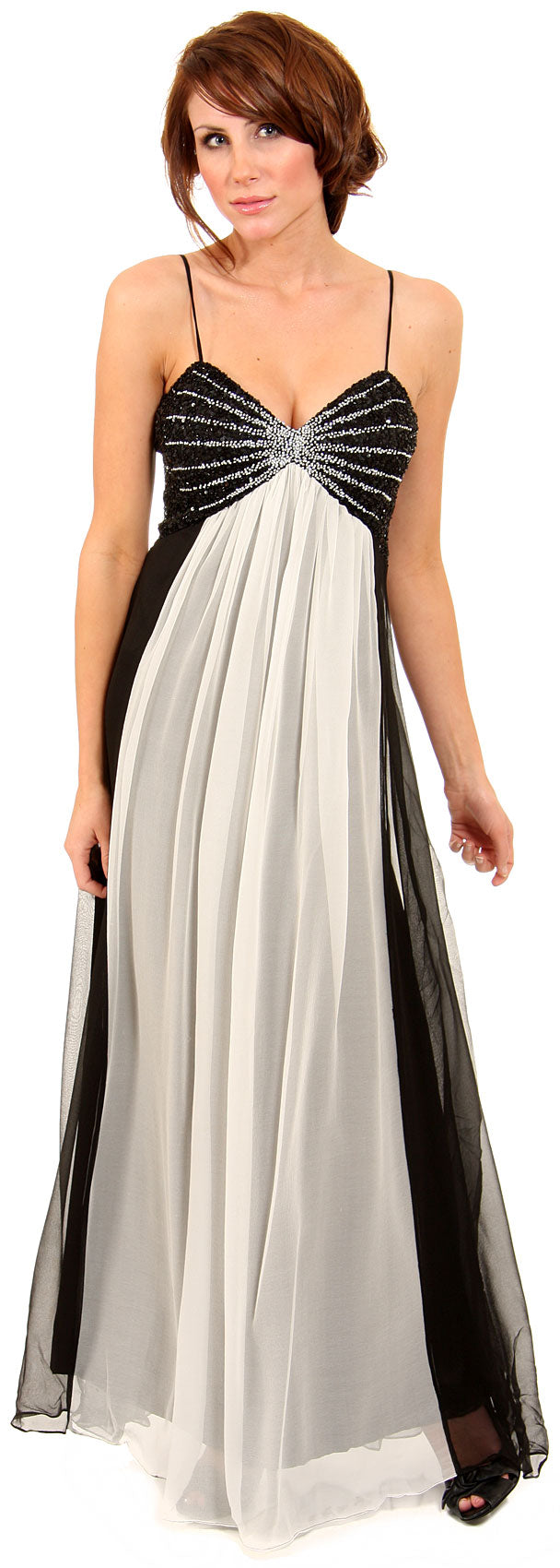 Main image of Two Tone Butterfly Top Formal Party Dress