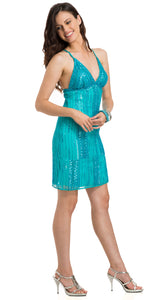 Main image of Glitter Short Cocktail Dress
