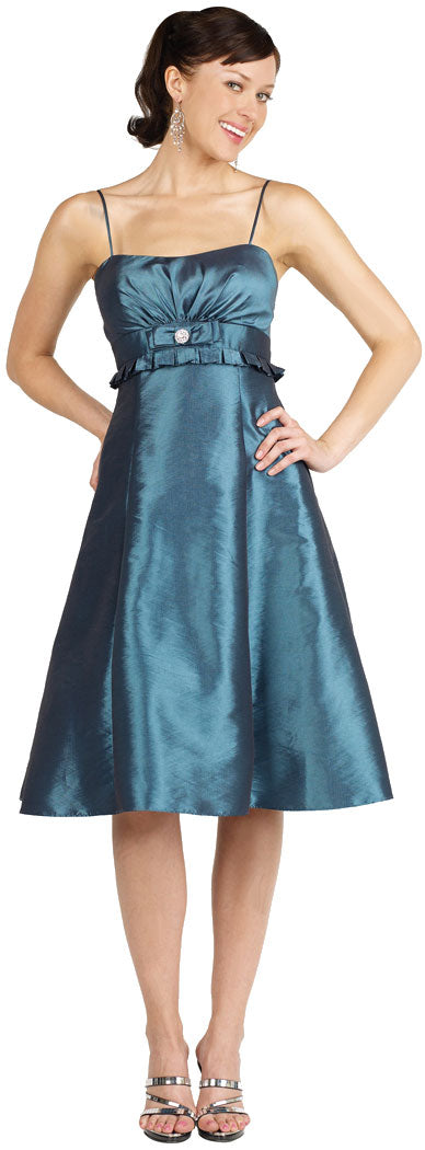 Main image of Two Tone Taffeta Empire Cut Party Dress
