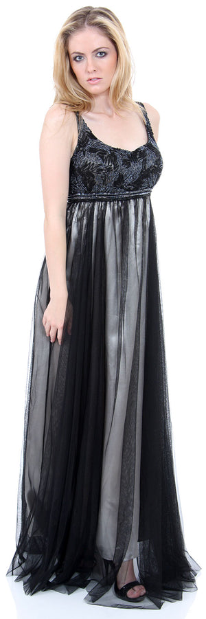 Image of Plus Size Full Length Formal Mob Evening Gown With Jacket in alternative image