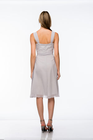 Back image of Cowl Neck Knee Length Bridesmaid Party Dress