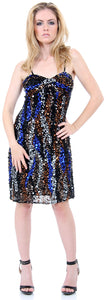 Main image of Fully Sequined Spaghetti Strap Party Dress