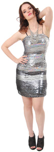 Main image of Horizontal Pattern Sequins Homecoming Party Dress