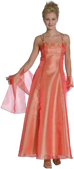 Main image of Shimmering Organza A-line Formal Dress