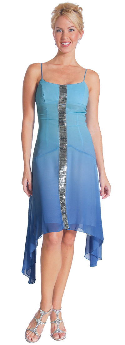 Main image of Asymmetrical Shimmering Party Dress