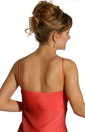 Back image of Ruched Ombre Grecian Style Formal Bridesmaid Dress