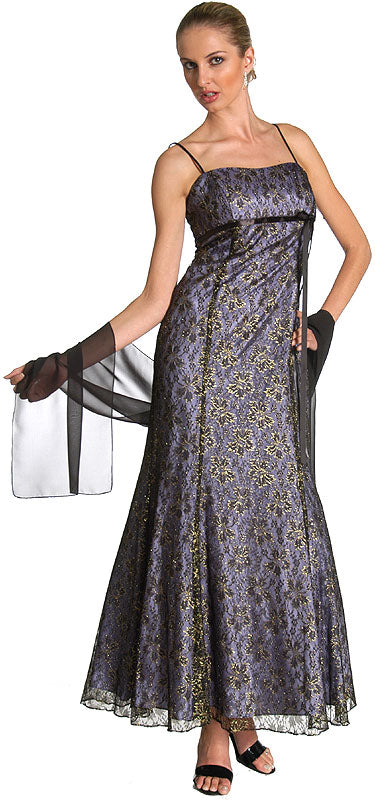 Main image of Empire Style Floral Lace Dress
