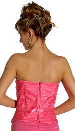 Back image of Strapless Princess Cut Two Piece Formal Party Dress
