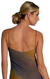 Back image of Two Tone Asymmetric Formal Dress