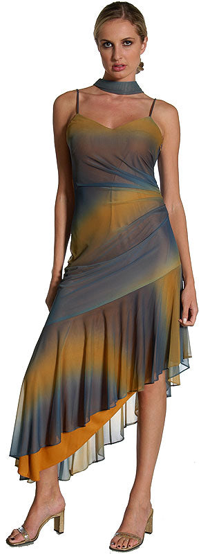 Main image of Two Tone Asymmetric Formal Dress
