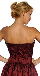 Back image of Off-shouldered Short Cocktail Dress