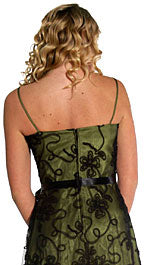 Back image of English Net Short Party Dress With Bow