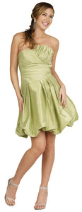 Main image of Strapless Pleated Bubble Short Party Dress