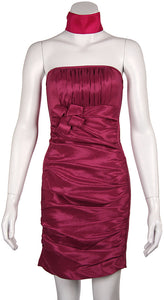 Main image of Strapless Shirred Fitted Cocktail Party Dress