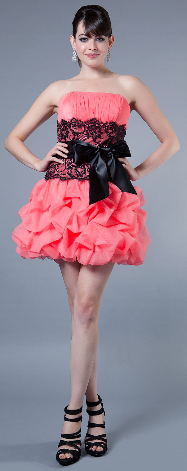 Main image of Multi Detailed Bubble Prom Dress