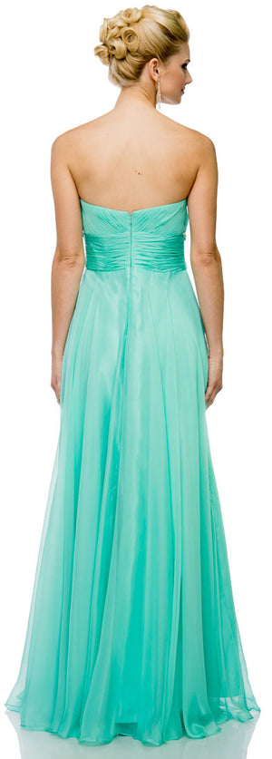 Back image of Sweetheart Neck Strapless Long Formal Prom Dress