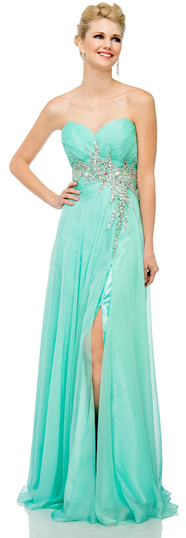 Main image of Sweetheart Neck Strapless Long Formal Prom Dress