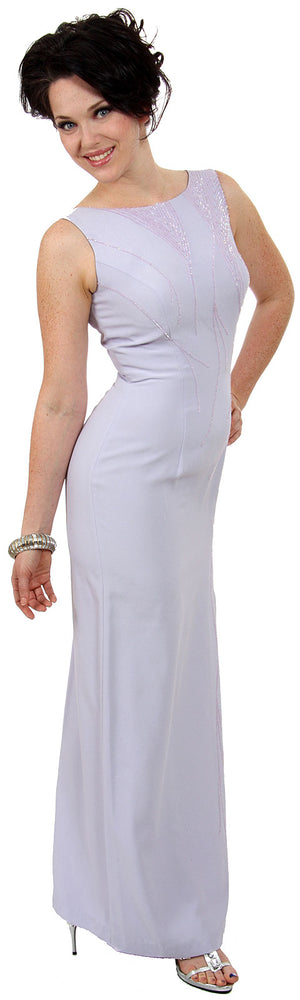 Image of Pencil-cut Sleeveless Formal Dress With Sequined Bodice in alternative image