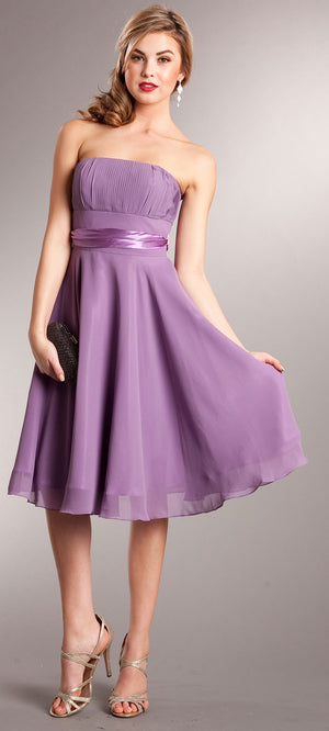 Main image of Strapless Bridesmaid Dress With Detachable Sash