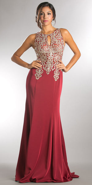 Main image of Exquisite Lace Bodice Long Formal Evening Dress
