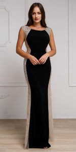 Main image of Silhouette Styles Prom Gown With Rhinestone Accents