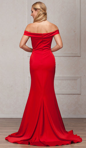 Back image of Off-the-shoulder Formal Prom Dress