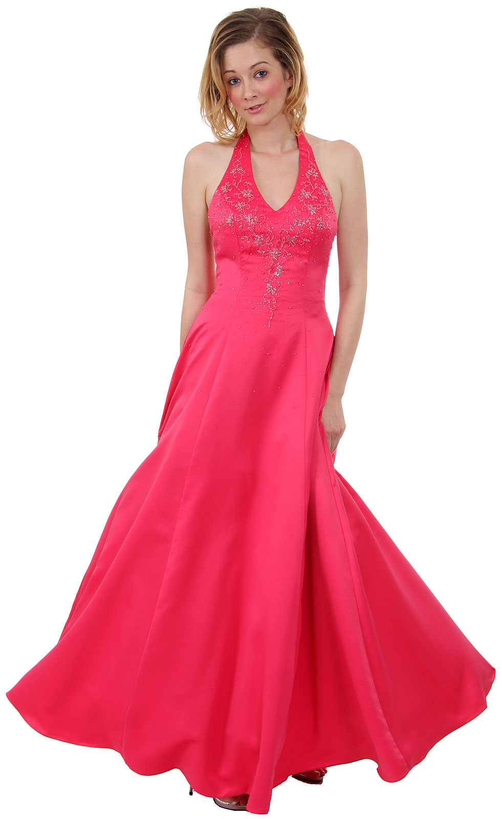 Main image of Beaded Halter-neck Prom Dress