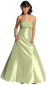 Main image of Strapless Ruched Bodice Prom Dress