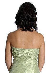 Back image of Strapless Ruched Bodice Prom Dress
