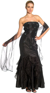 Main image of Beaded Mermaid Cut Style And Ruffled Prom Dress