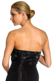 Back image of Beaded Mermaid Cut Style And Ruffled Prom Dress