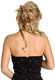 Back image of Ruffled Strapless Short Prom Dress