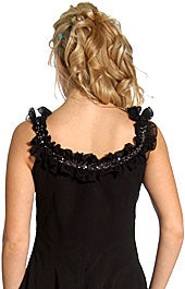 Image of Ruffled Short Cocktail Prom Dress back in Black
