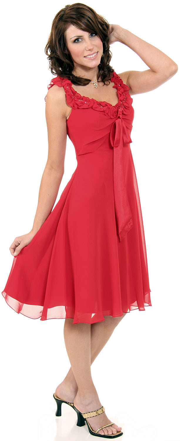 Main image of Ruffled Short Cocktail Prom Dress