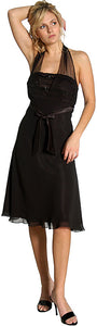 Main image of Halter Sheer Neck Short Formal Party Dress