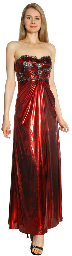 Main image of Strapless Sweetheart Formal Evening Dress