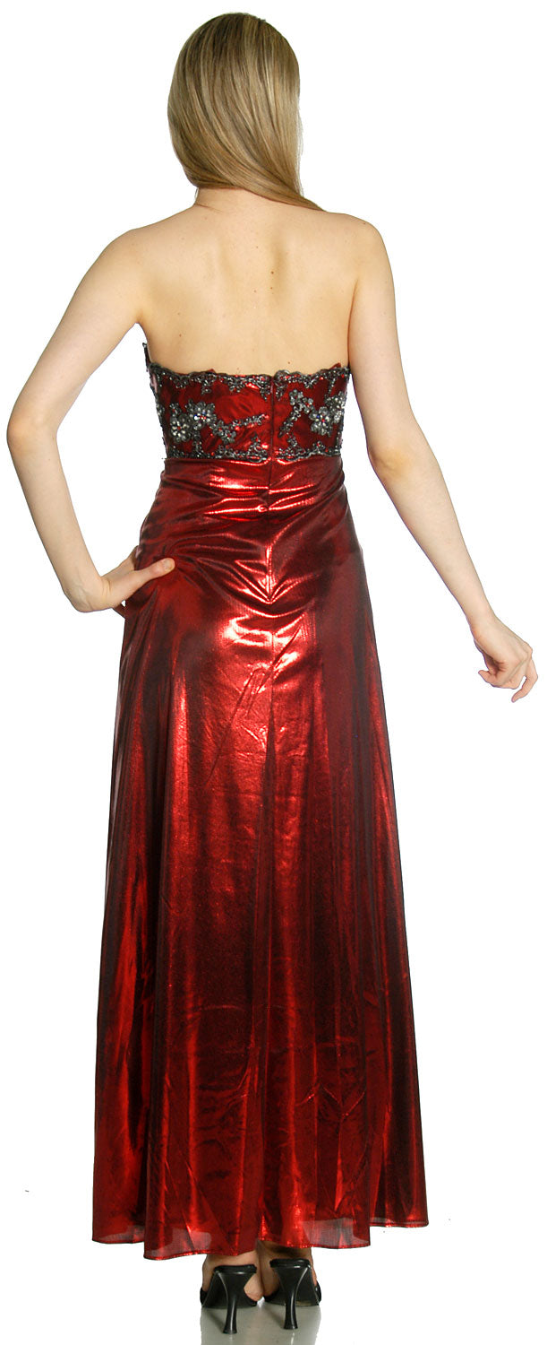 Back image of Strapless Sweetheart Formal Evening Dress