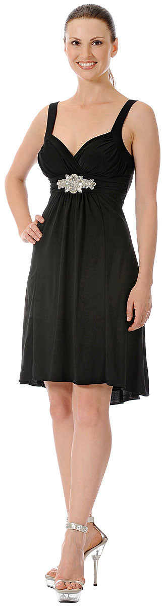 Main image of Ruched Overlap Bust Short Formal Party Dress