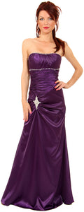 Main image of Ruched Bejeweled Fitted Formal Evening Dress