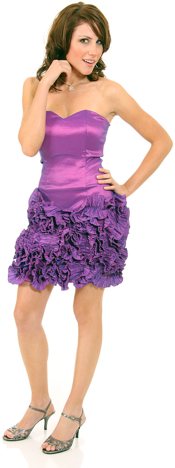 Main image of Short Flirty Ruffled Party Prom Dress