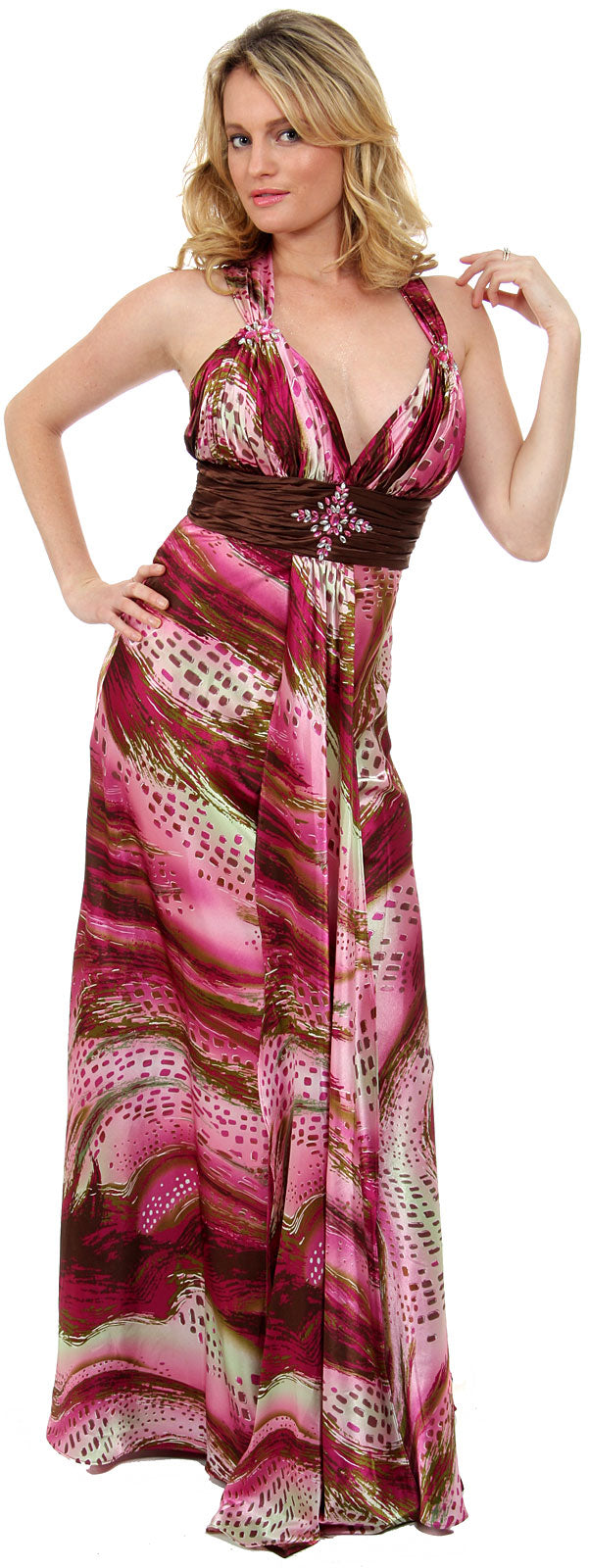 Empire Style Multi Color Full Length Formal Dress