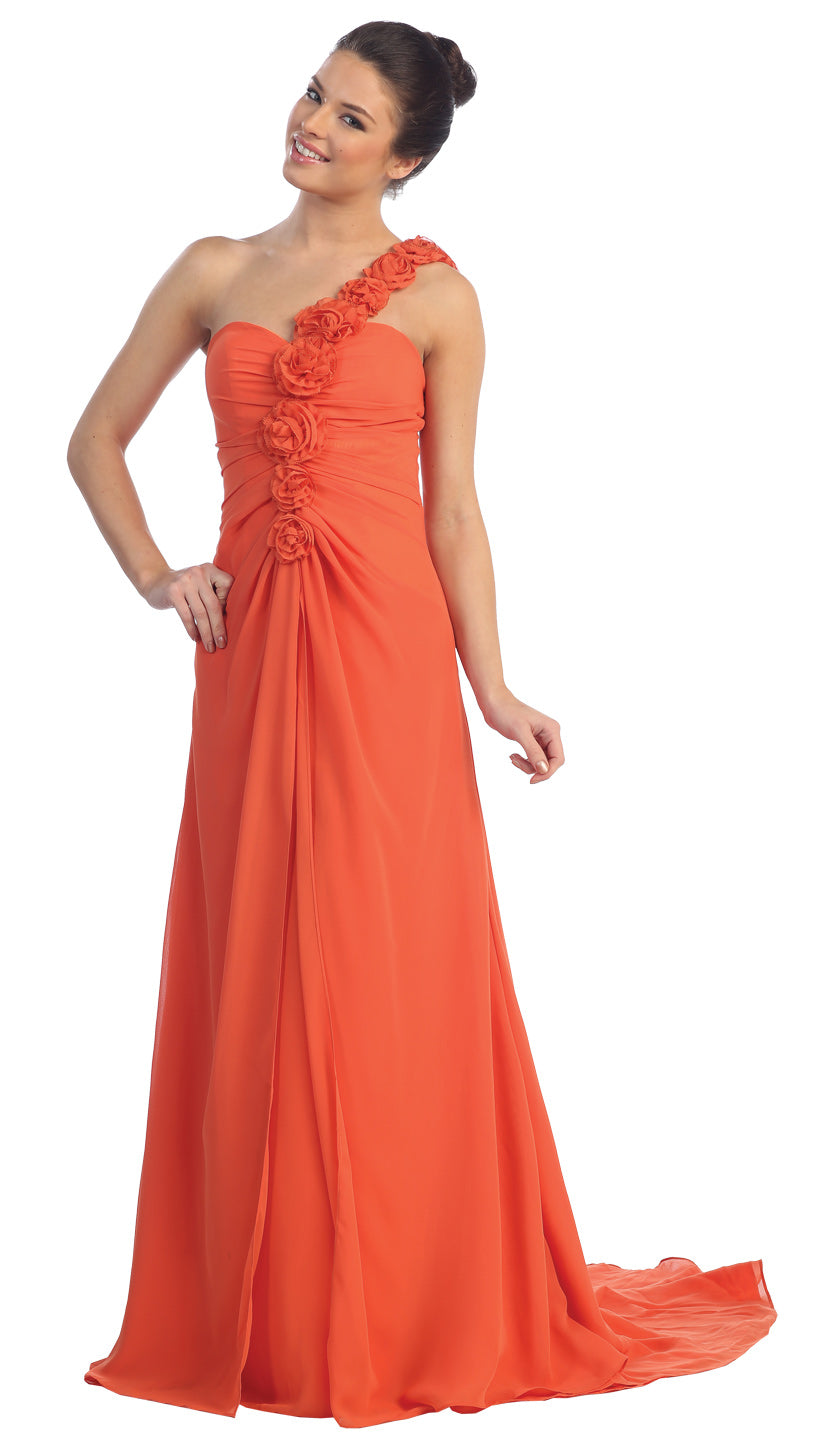 Main image of Off Shoulder Roman Prom Dress