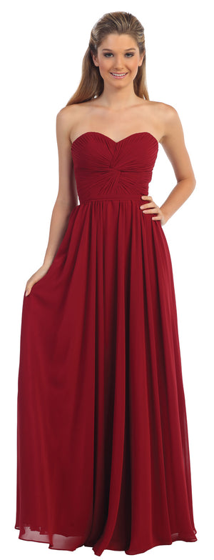 Main image of Strapless Twist Knot Bust Formal Bridesmaid Dress
