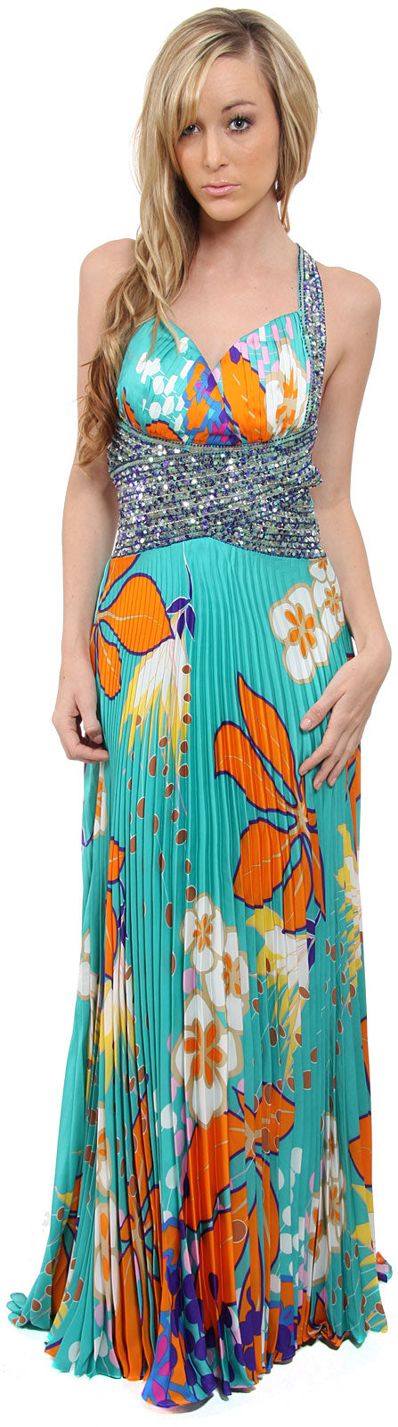 Main image of Tropical Elegance Long Formal Dress