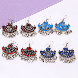 Multi Color Afghani Earrings